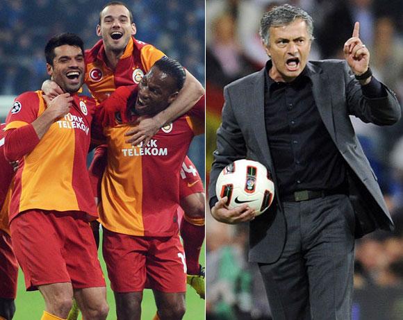 Mourinho, Drogba and Sneijder come together