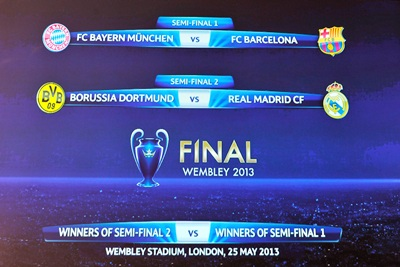 The Champions League semi-final draw