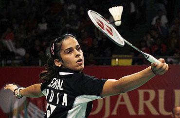 Saina preparing hard for tough test at India Open