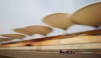 Sebastian Vettel of Germany and Infiniti Red Bull Racing drives