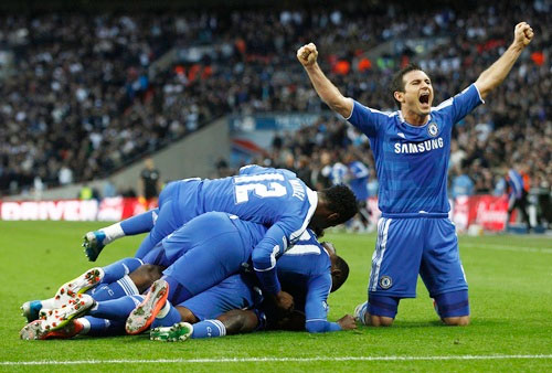 Chelsea's Frank Lampard celebrates a goal