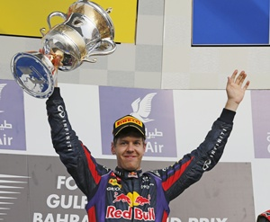 Rediff Sports - Cricket, Indian hockey, Tennis, Football, Chess, Golf - Sebastian Vettel wins in Bahrain