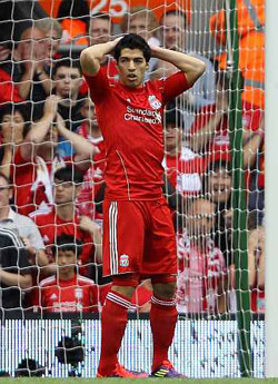 Liverpool's Suarez charged with violent conduct