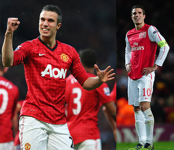 Leaving their favourite clubs worked for Van Persie  &  Co.