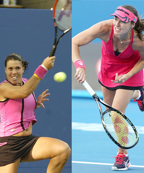 Jennifer Capriati (left) and M