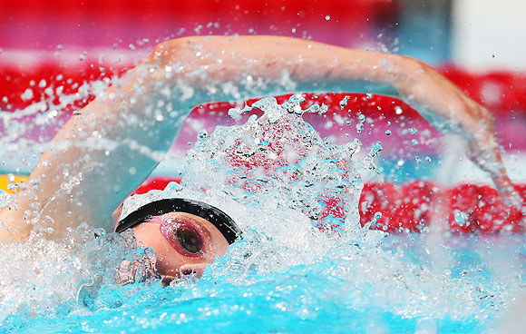 Missy Franklin of the USA competes during the Swimming Women's 200m Freestyle final on Wednesday