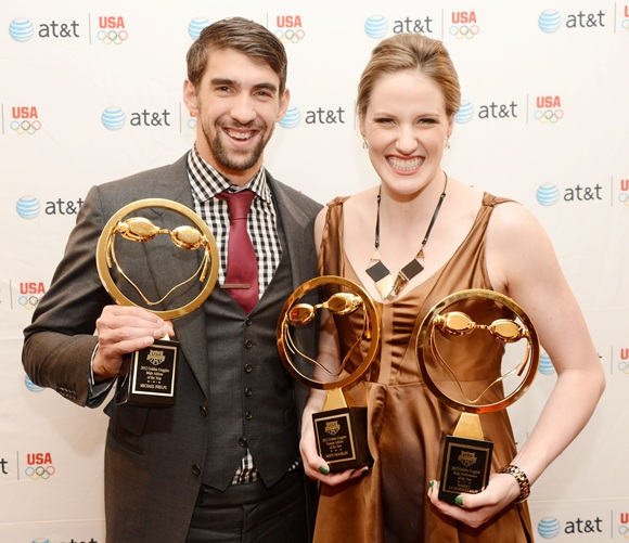 Olympic athletes Michael Phelps and Missy Franklin