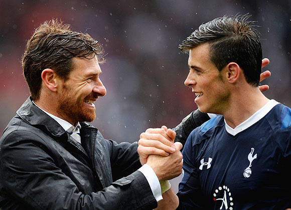 Spurs manager Andre Villas-Boas and Gareth Bale