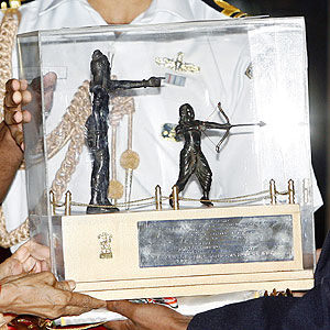 The Dronacharya trophy