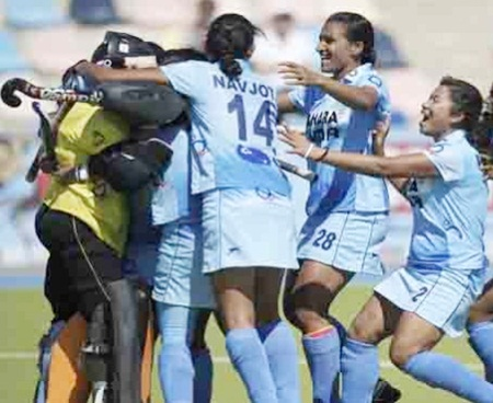 India's players celebrate after clinching the bronze medal at the junior World Cup