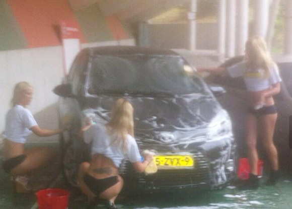 Need 'bikini babe' car wash? Win 'Man of the Match' award!