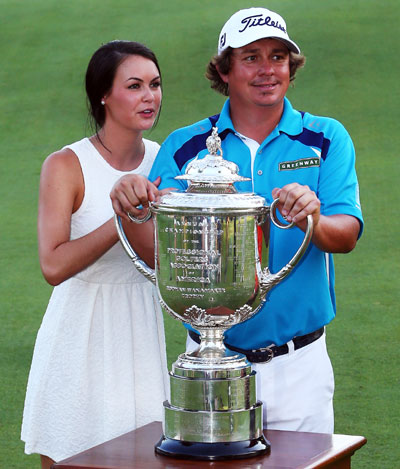Jason Dufner and wife