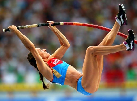 Rediff Sports - Cricket, Indian hockey, Tennis, Football, Chess, Golf - Isinbayeva's comeback thwarted by injury