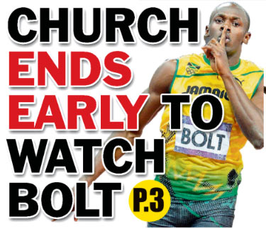 The front page of The Jamaica Star