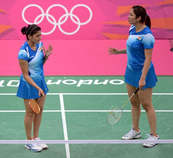 Jwala Gutta (right) with Ashwini Ponnappa