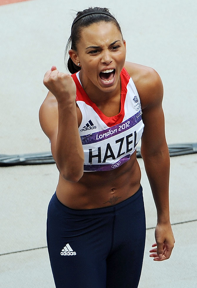 Heptathathlete Louise Hazel of Great Britain