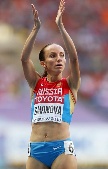 Mariya Savinova of Russia