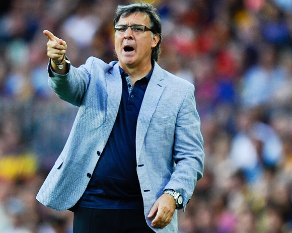 Head coach Gerardo 'Tata' Martino of FC Barcelona