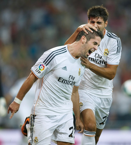 Francisco Roman Alarcon alias Isco of Real Madrid CF celebrates