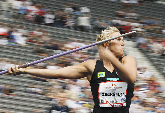 Germany's Christina Obergfoell