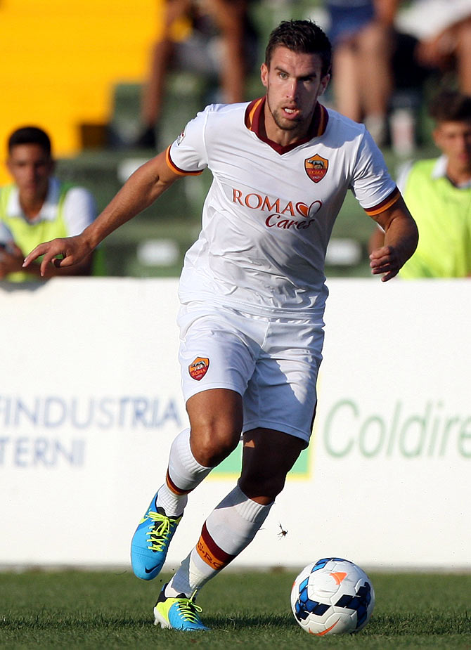 Kevin Strootman of AS Roma in action