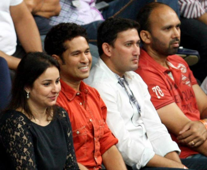 PHOTOS: Tendulkar cheers for Mumbai Masters in IBL