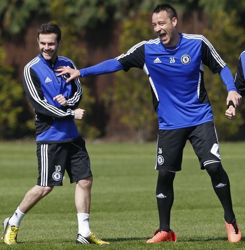 Juan Mata and John Terry