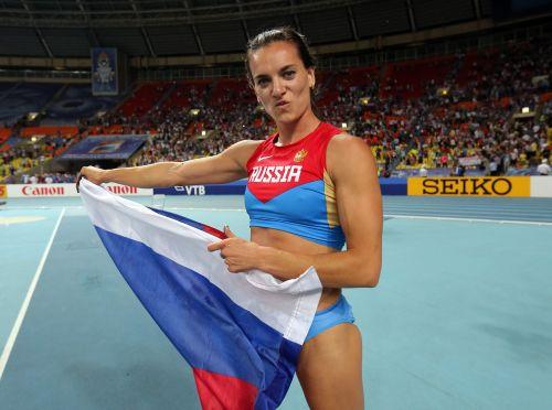 Russian pole vaulter Yelena Isinbayeva