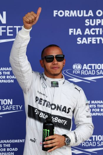 Belgian GP: Hamilton takes fourth pole in a row