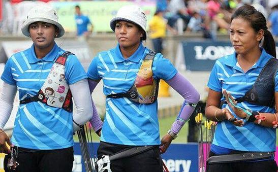 Deepika Kumari, Rimil Buriuly and Bombayala Devi