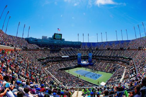 A general view of Arthur Ashe Stadium