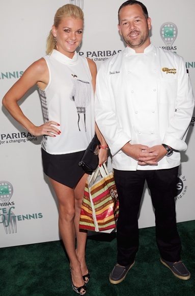 Tennis player Agnieszka Radwanska and Chef Donald Moore attend the 14th Annual BNP Paribas Taste Of Tennis at New York Hotel
