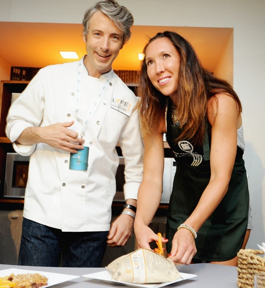 Chef John Mitchell and tennis player Jelena Jankovic