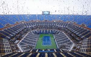 US Open: Rain suspends opening day's play, Federer match postponed
