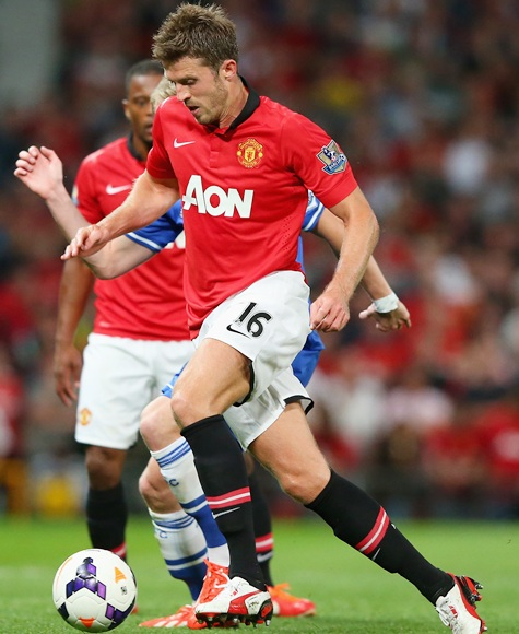 Michael Carrick of Manchester United in action