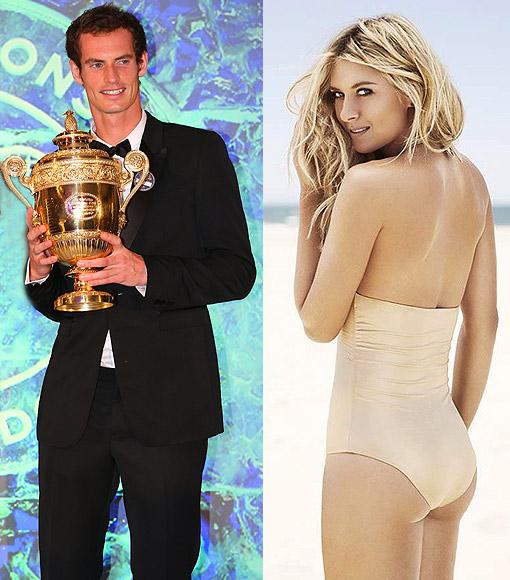 Andy Murray (left) and Maria Sharapova