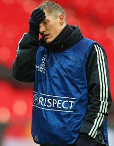 Bayern's Schweinsteiger doubtful against Chelsea