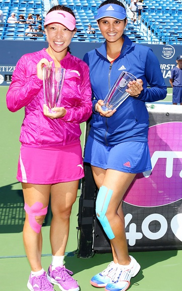 The doubles team of Sania Mirza of India and Jie Zheng of China