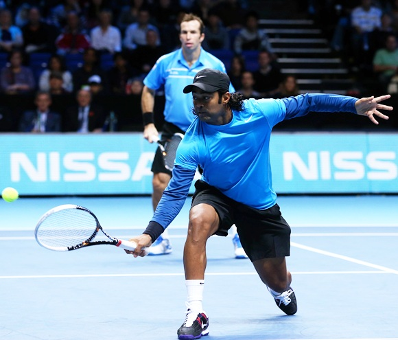 Leander Paes of India and Radek Stepanek of Czech Republic