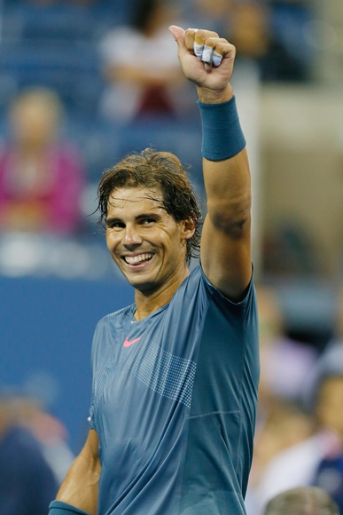 Rafael Nadal of Spain celebrates victory