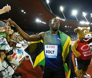 'Tired' Bolt wins 100 metres in Zurich Diamond League