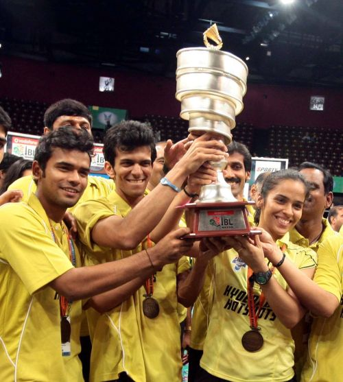 Hyderabad Hotshots team after win