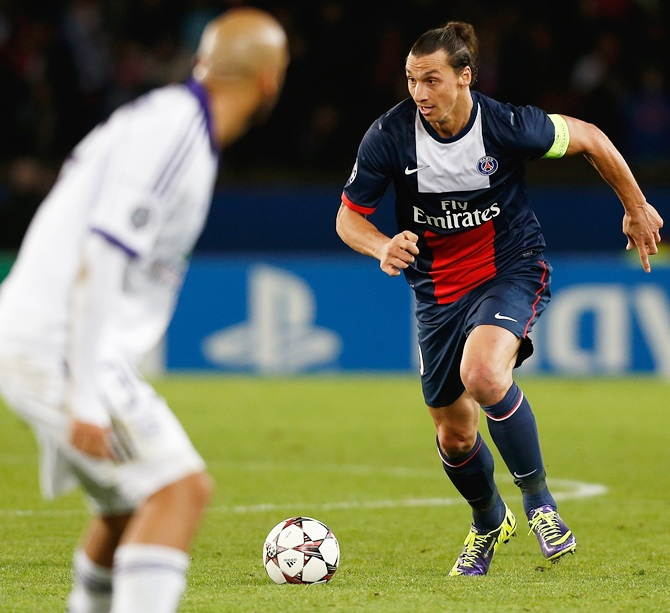 Zlatan Ibrahimovic of PSG