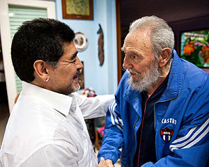 Maradona with Fidel Castro