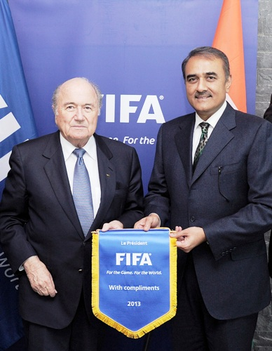 Sepp Blatter and Prafful Patel