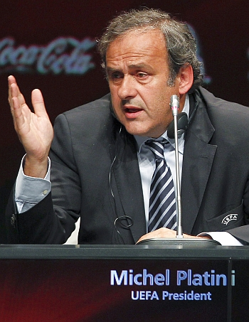Platini calls for sin bins to replace yellow cards