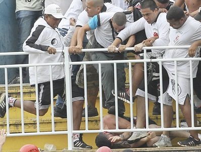 Shocking fan violence mars end of Brazil championship