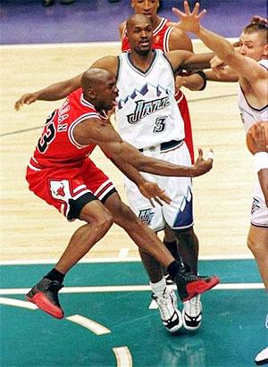 Michael Jordan (left)
