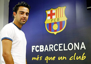Xavi of FC Barcelona