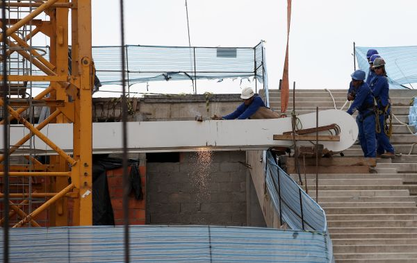Construction work going on at one of the World Cup stadiums